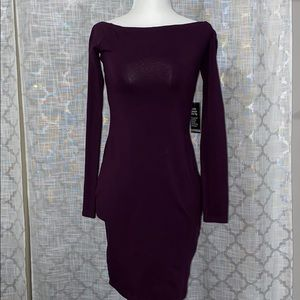 EXPRESS Off the Shoulder Long Sleeve Purple Top